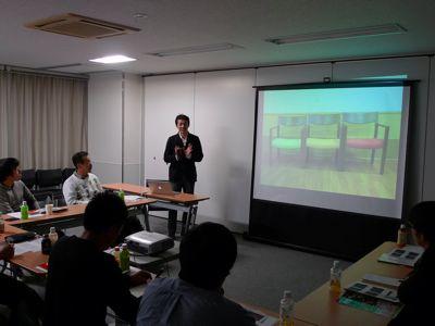 デイサービスの集客セミナーの様子 ケアスタディ株式会社代表間瀬樹省講演